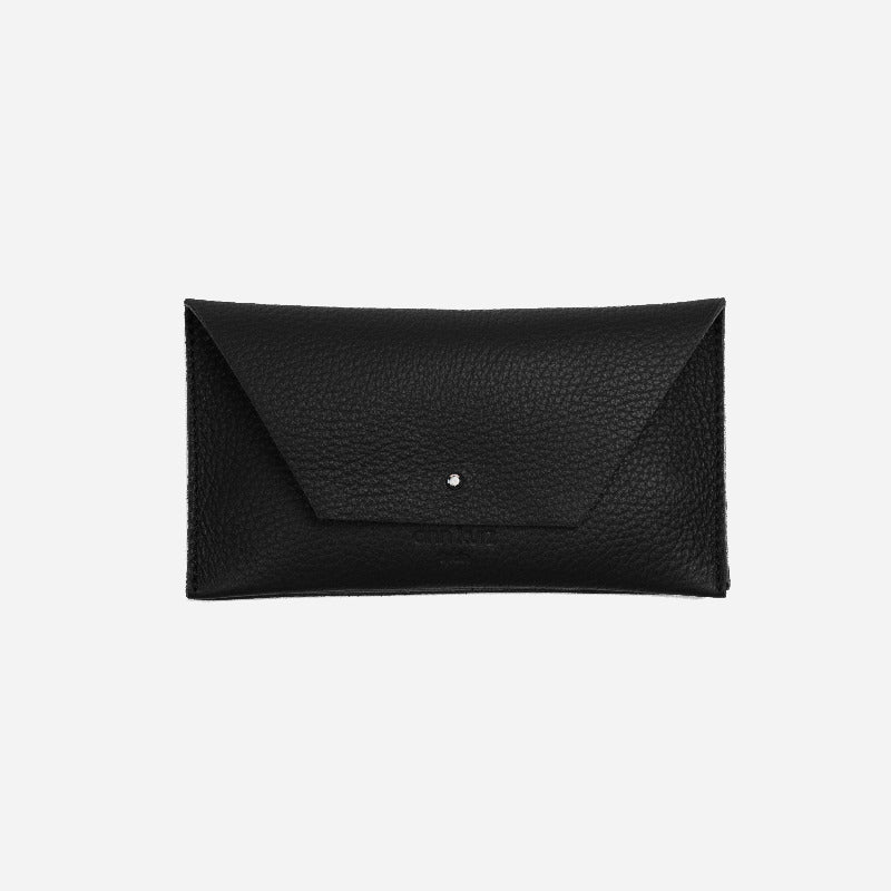 Mia Mini Grained Black Wallet