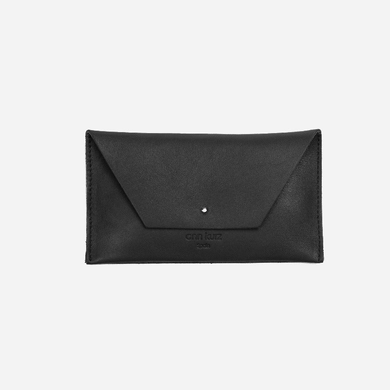 Mia Mini Nappa Black Wallet - ann kurz