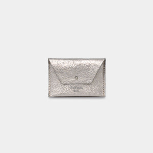 Mika Metallic Silver Wallet