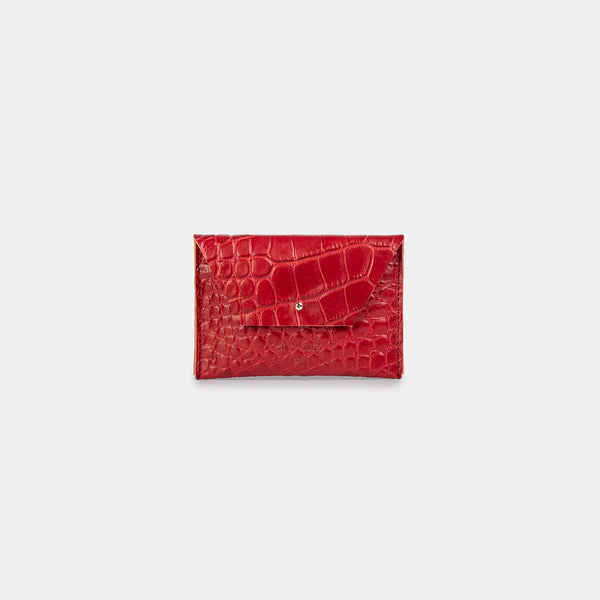 Mika Croco Cherry Wallet
