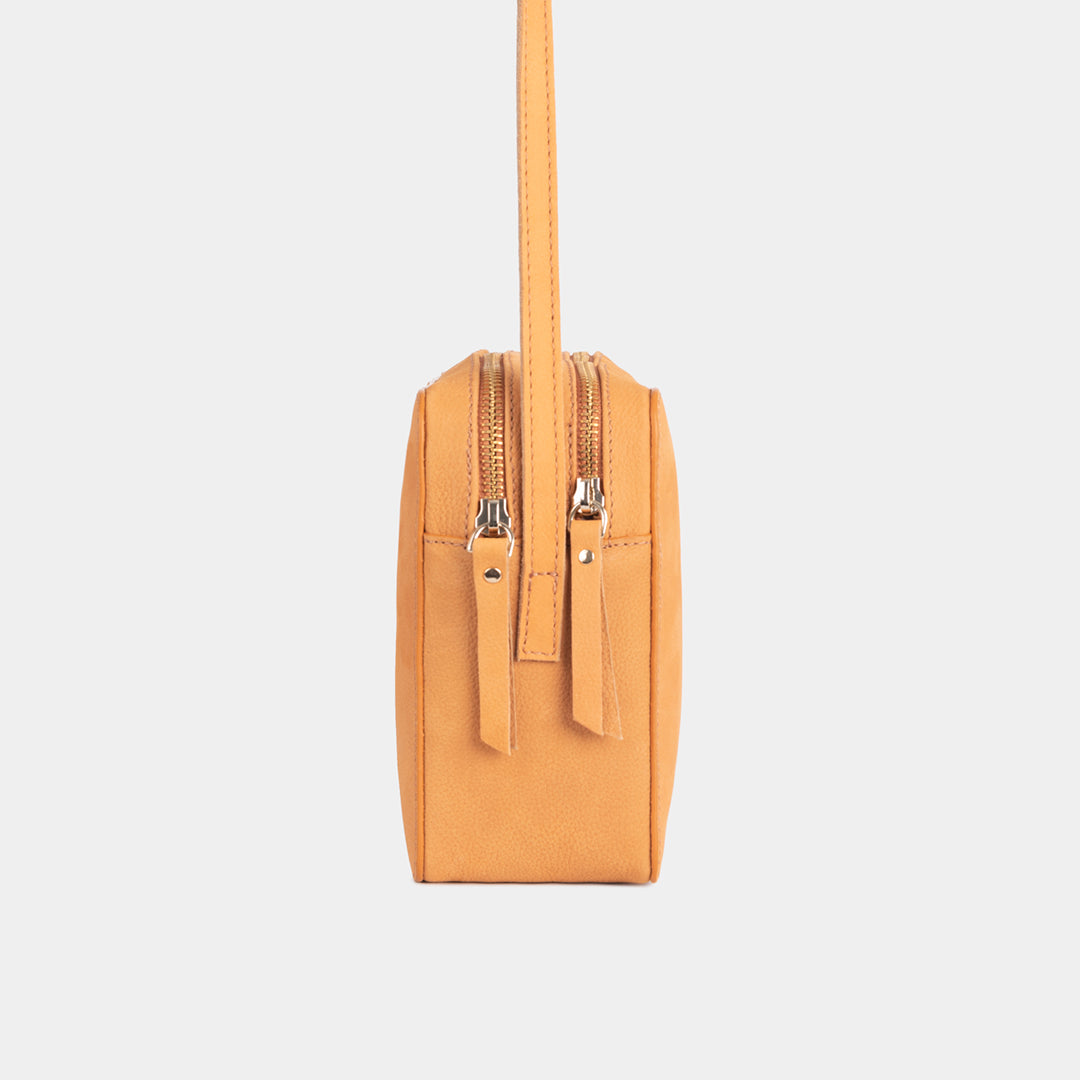 Nadine Old Orange Shoulder Bag - ann kurz