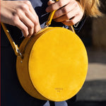 Load image into Gallery viewer, Pia Metallic Rosè Circle Bag - ann kurz