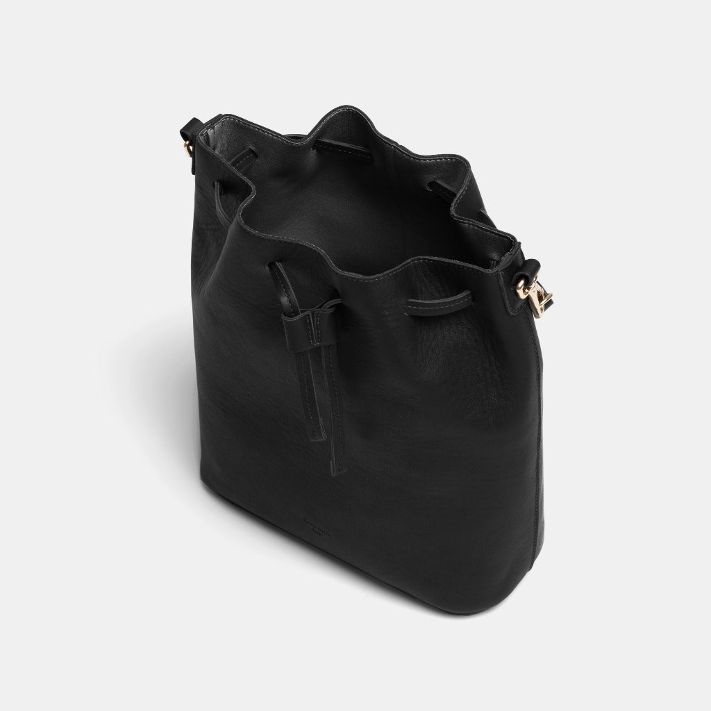 Saku Nappa Black Bucket Bag - ann kurz