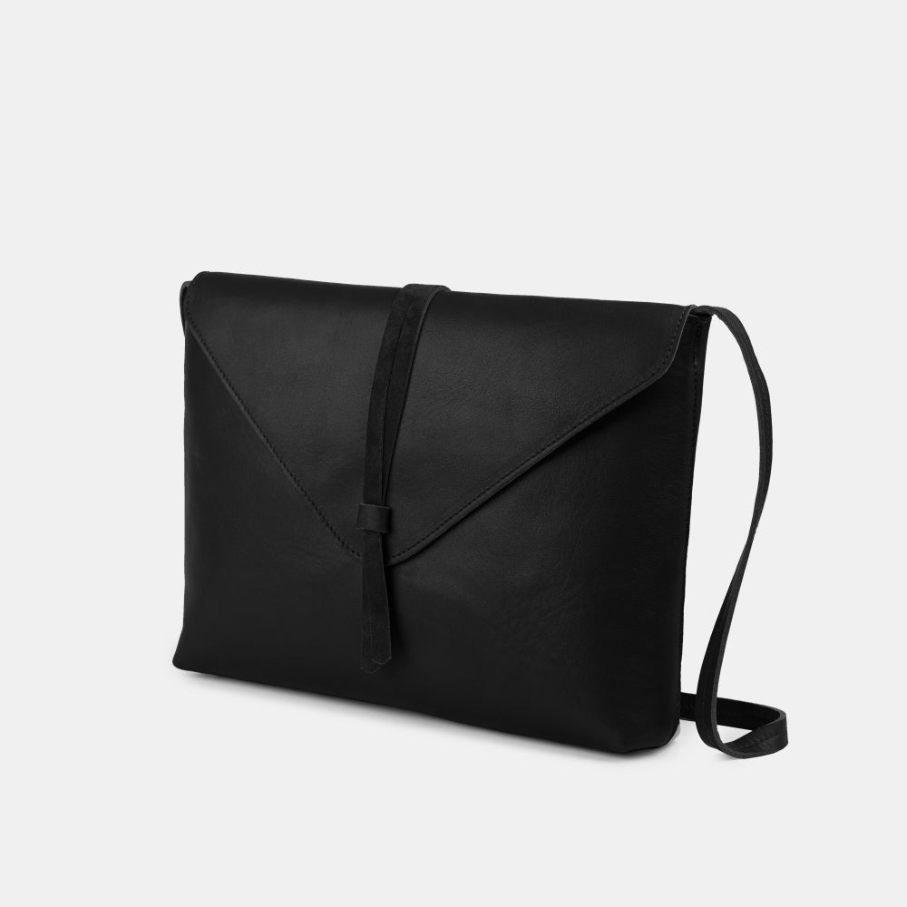 Tira Nappa Black Shoulder Bag