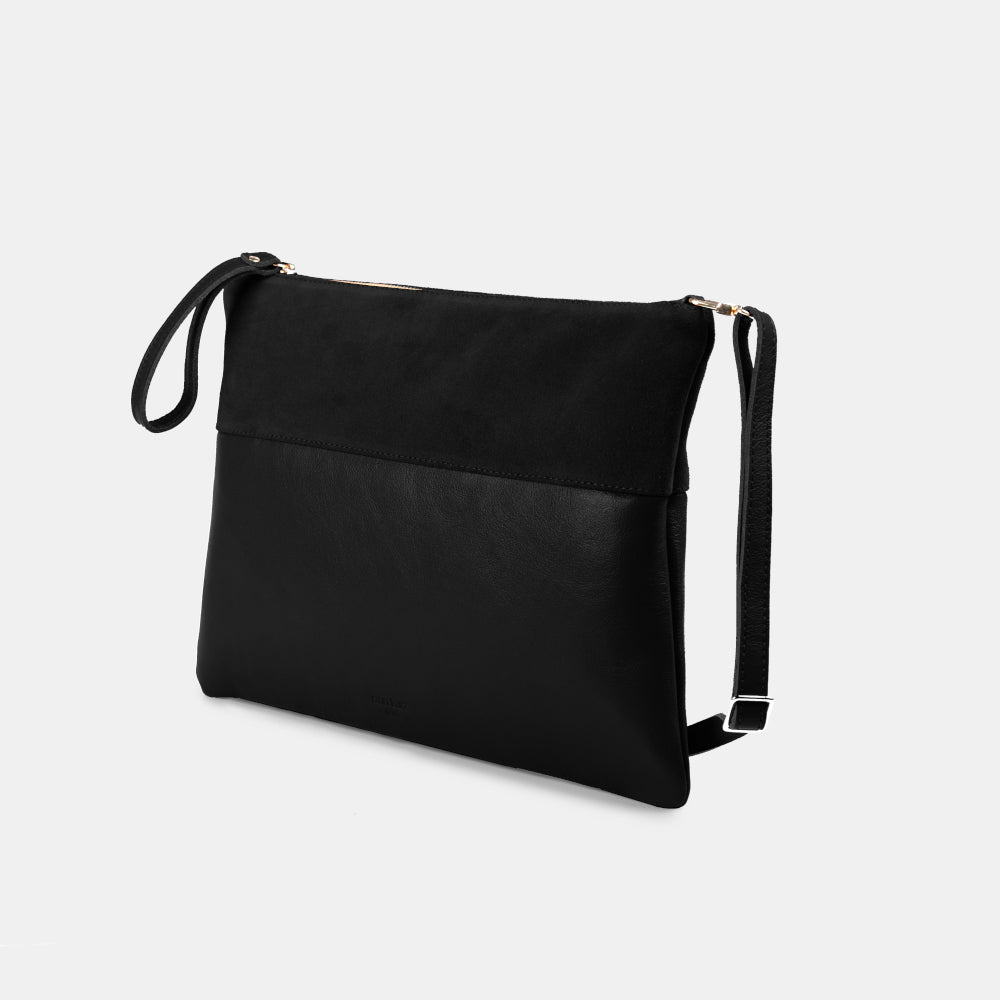 Trapezo Black Mix Shoulder Bag - ann kurz