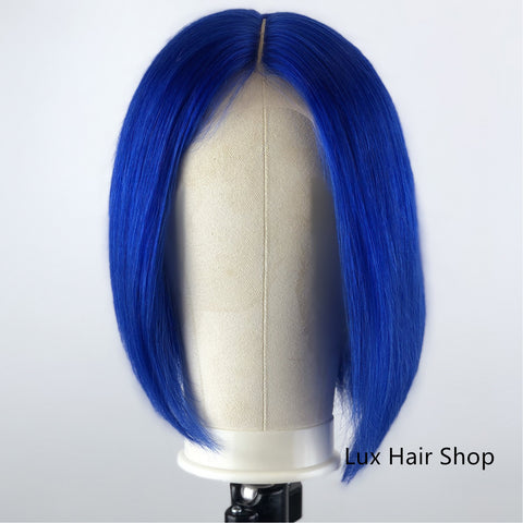 royal blue wig