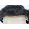 Image of European Virgin Human Hair Man Toupee Fine Mono Top With PU Skin Around Lace Front On Rite