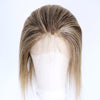 Image of Peruvian Hair Brown Mix Blond Spot Color Straight Short Full Lace Wig