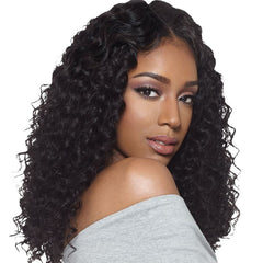 Brazilian Hair Black Color Curly 18 Inch Fashion 360 Lace Frontal Wigs