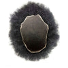 Image of European Virgin Human Hair Black Afro Curl Man Toupee