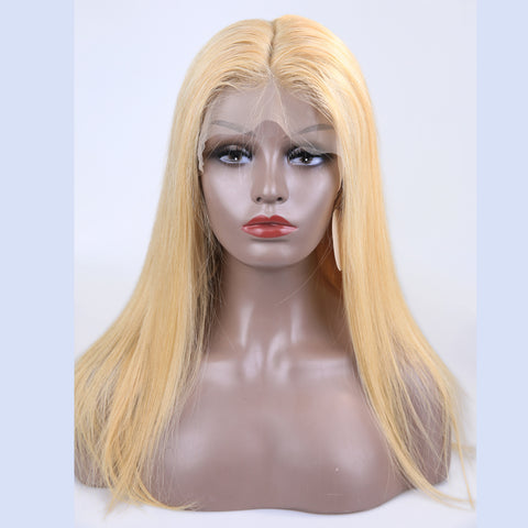 Peruvian Hair Blond Fashion Full Lace Wig Straight