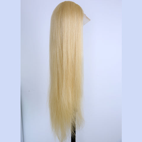 Peruvian Hair Blond Fashion Straight Full Lace Wig