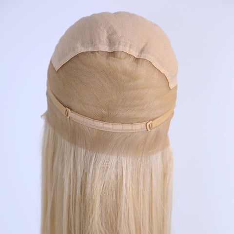 Peruvian Hair Light Blond Fashion Straight Full Lace Wig