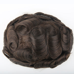 European Virgin Human Hair Dark Brown Hollywood.W Base Man Toupee