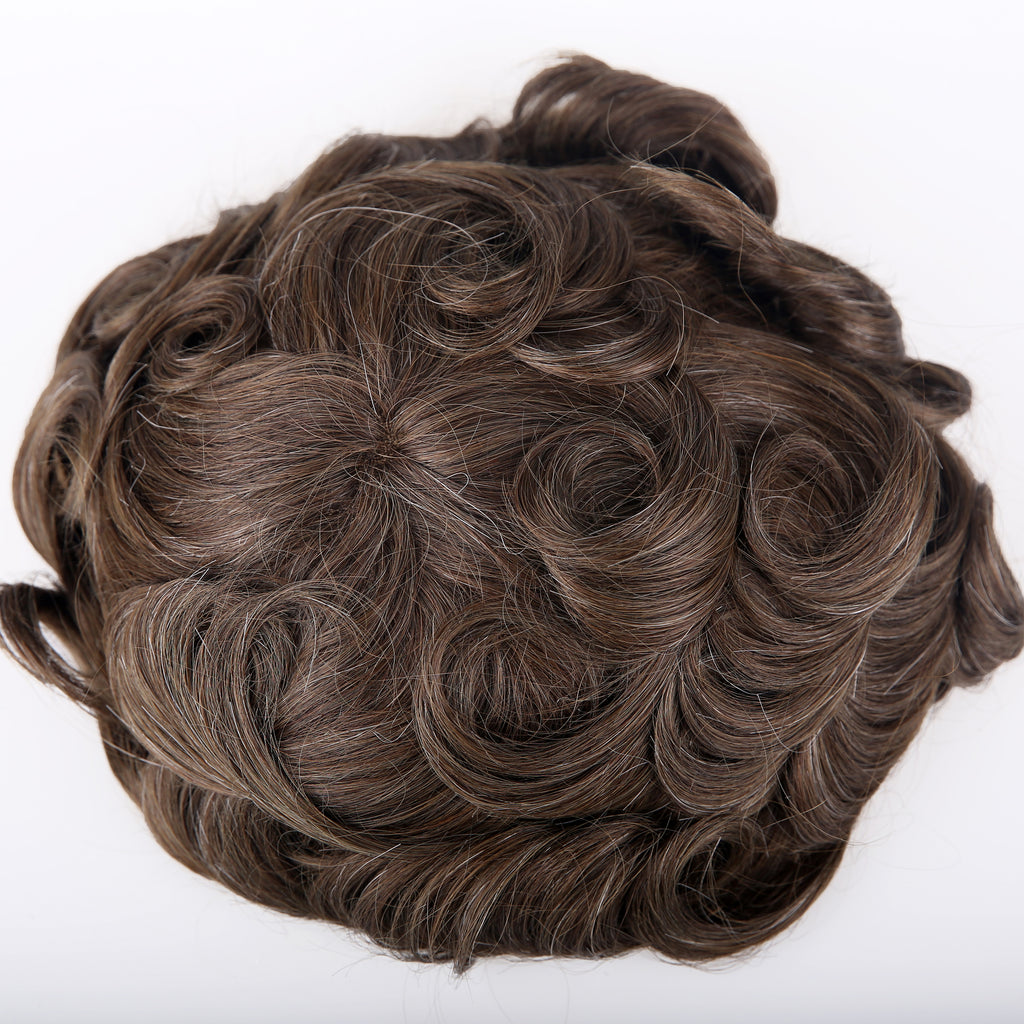 European Virgin Human Hair Brown Oscar Base Man Toupee