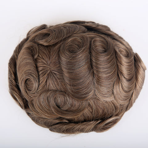 European Virgin Human Hair Light Brown AA Base Man Toupee