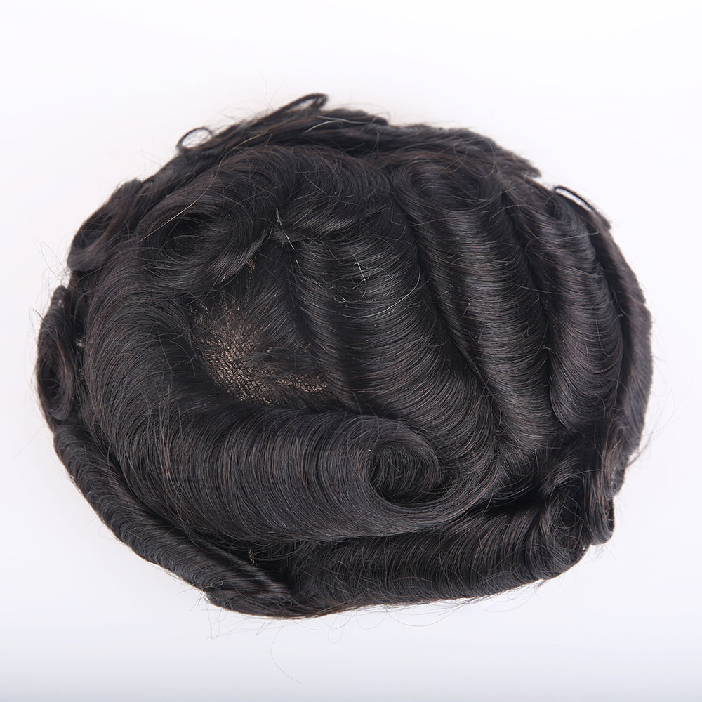 European Virgin Human Hair German Lace Base Man Toupee