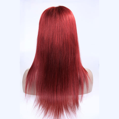 Peruvian Hair Red Fashion Straight Full Lace Wig