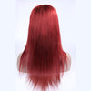 Image of Peruvian Hair Red Fashion Straight Full Lace Wig