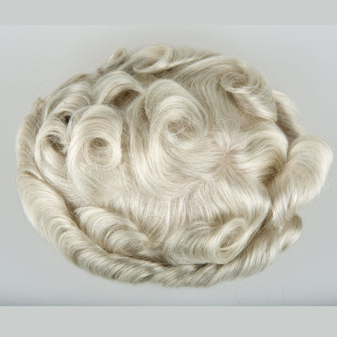 European Virgin Human Hair White P2-3-8 Base Man Toupee