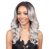 Image of Synthetic Hair Black Color Curly Long Hair Machine Made Wig