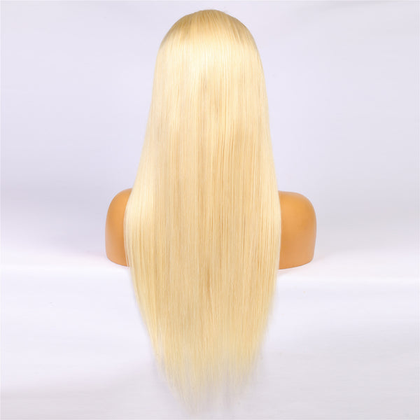 Peruvian Hair Blond Fashion Straight Lace Front Wig