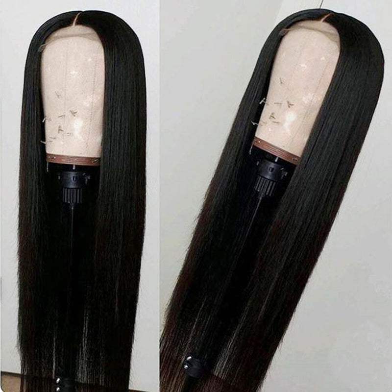 "Straight Long 4*4"" Closure Wig"