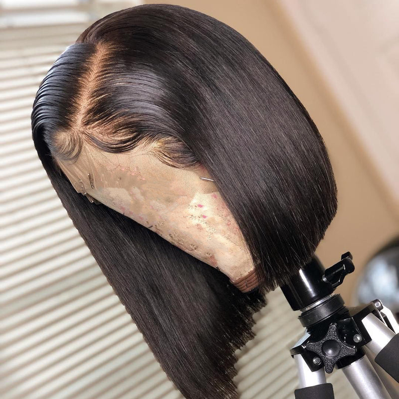 Natural Color Lace Front Bob Wig