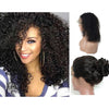 Image of Brazilian Hair Black Color Curly 14 Inch Fashion 360 Lace Frontal Wigs