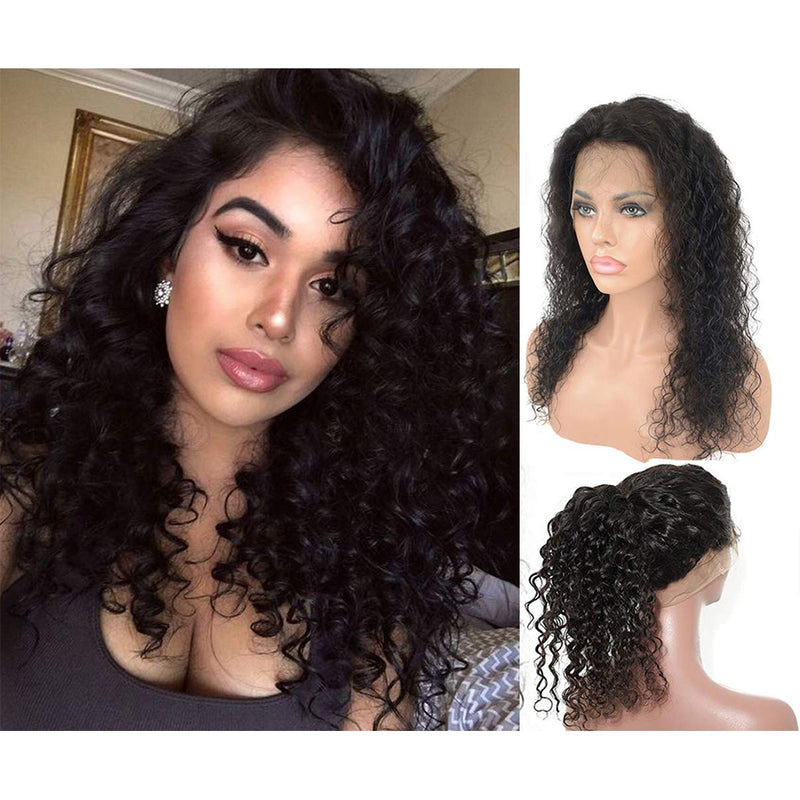 360 lace curly wig