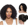 Image of Brazilian Hair Black Color Curly 12 Inch Fashion 360 Lace Frontal Wigs