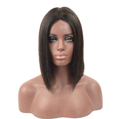 Brazilian Hair Black Color Hair Fashion Lace Front Bob Wig