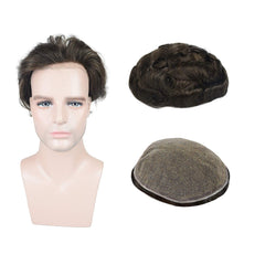 European Virgin Human Hair Brown Full Lace Base Man Toupee
