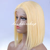 Image of Itslademi Peruvian Hair Blond Color Straight Lace Front Bob Wig