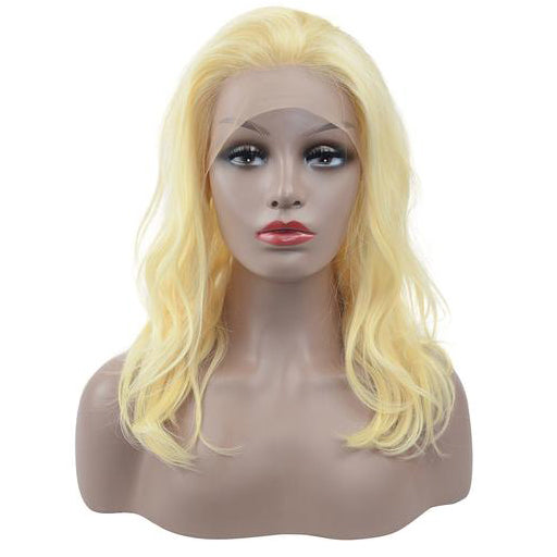 Peruvian Hair Full Lace Wig Light Blond Color Body Wavy