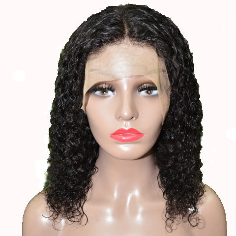 Brazilian Hair Natural Color Curly Full Lace Wig