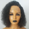 Image of Peruvian Hair Curly Short Hair Lace Front Wig Natural Color