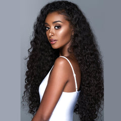 Brazilian Hair Natural Color Curly Long Hair Lace Front Wig