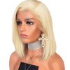 Image of Peruvian Hair Light Blond Color Straight Lace Front Bob Wig