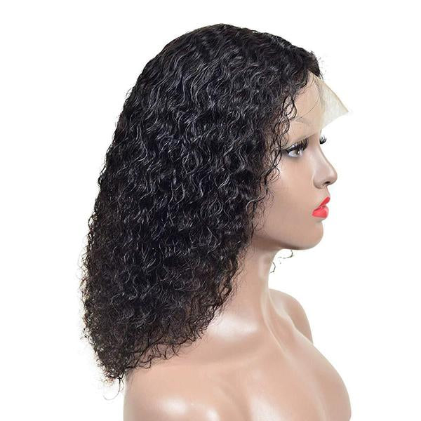 Peruvian Hair Curly Full Lace Wig Natural Color