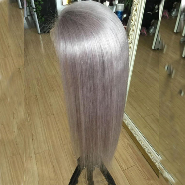Silver Fashion Straight Long Lace Front Wig