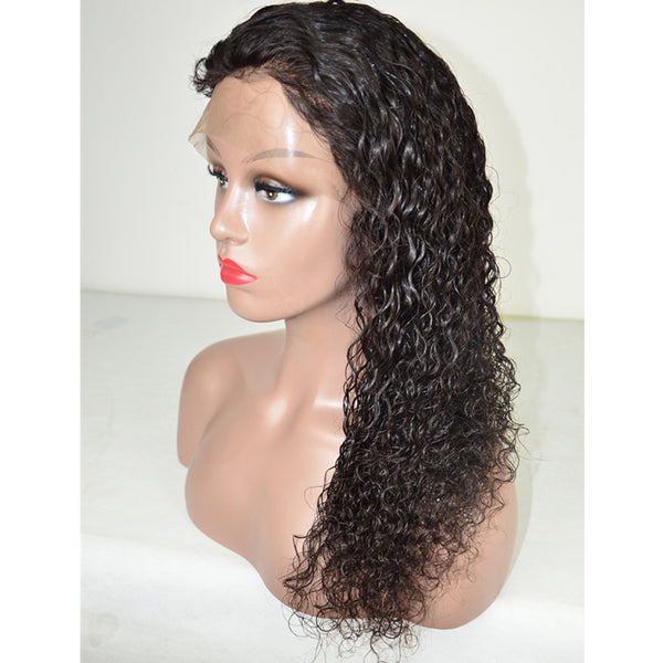 Peruvian Hair Curly Long Hair Full Lace Wig Natural Color