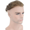 Image of European Virgin Human Hair Light Blond Thin Skin Base Man Toupee V-LOOP