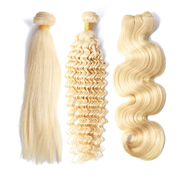Peruvian Human Hair Fashion Weft Blond Color Bundles