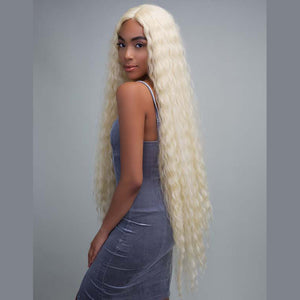 Peruvian Hair Light Blond Fashion Natural Wavy Full Lace Wig
