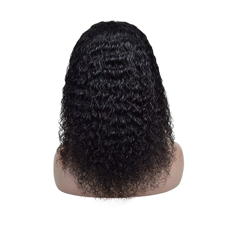 Brazilian Hair Black Color Curly 12 Inch Fashion 360 Lace Frontal Wigs