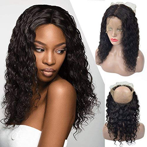 Brazilian Human Hair 360 Lace Frontal Curly Long