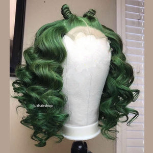 "Spring Curl Short 4*4"" Closure Wig"