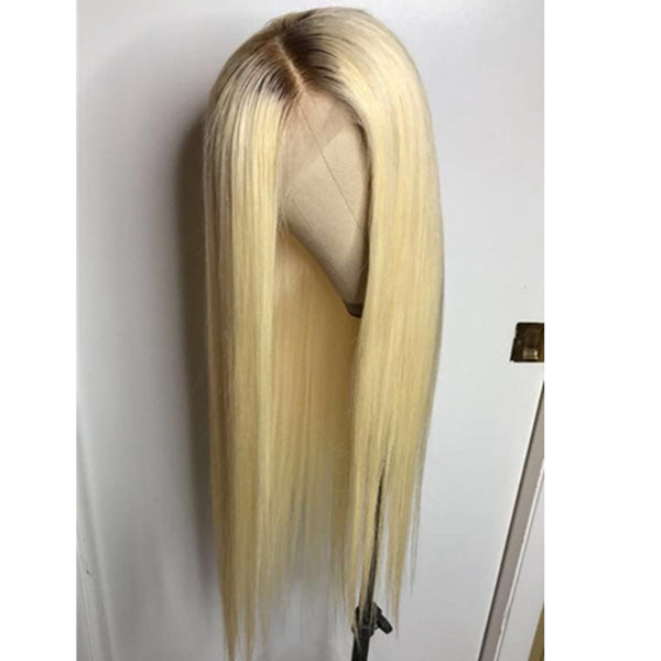Blonde With Black Root wig