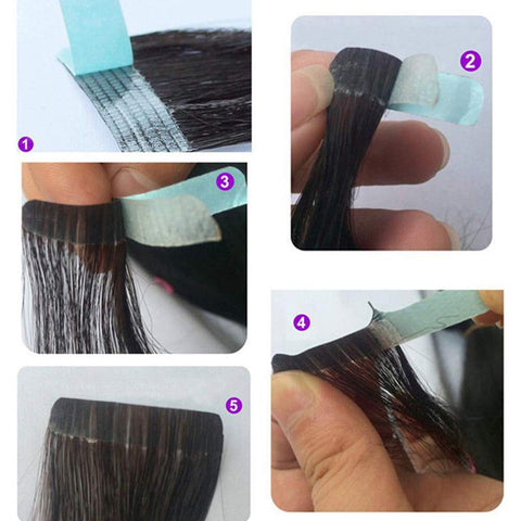 Lace Front Support Tape Roll Double Sided Blue Liner Hair Replacement Tape For Toupee And Wig